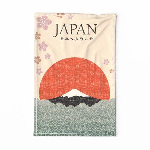 Vintage Travel to Japan Tea Towel