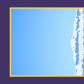 Colorful Colorado Pikes Peak Tea Towel