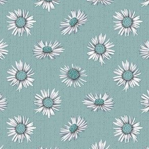 white asters on light green small