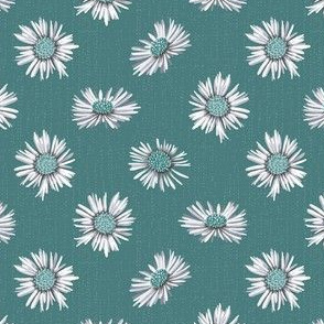 white asters on pine green small