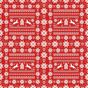 Scandinavian Red Christmas Classic Pattern