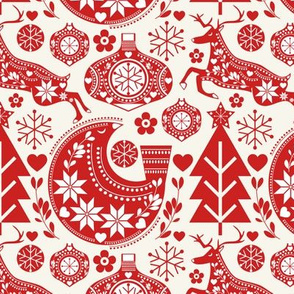 Scandinavian Folk Christmas Art