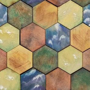 Hexagon tiles game