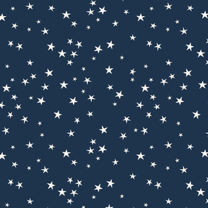 Simple Star Repeat Navy