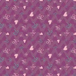 clover meadow and hearts by rysunki_malunki