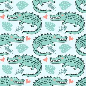 Cute crocodiles