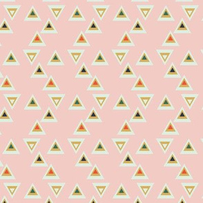 geo triangles on pink by rysunki_malunki