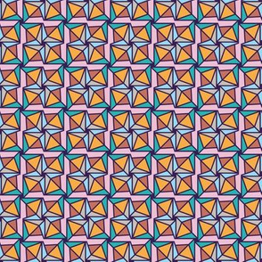 happy geometric pinwheels by rysunki_malunki