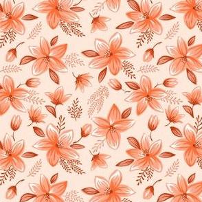Floral pattern - orange