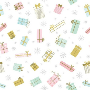 Christmas Presents & Snowflakes