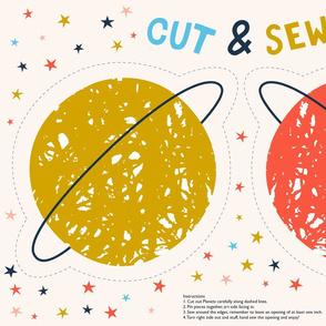 Cut and Sew Planet cushion