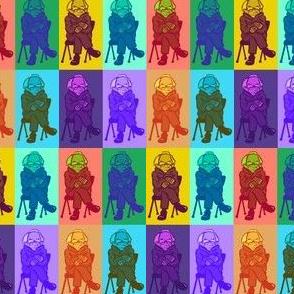Bernie Pop Art Technicolor- small scale