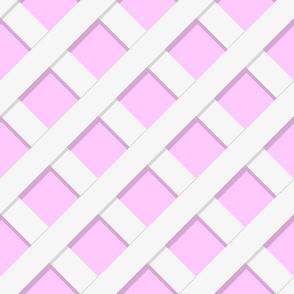 Trelliage REVERSE Raspberry LARGER DIAGONAL TRELLIS