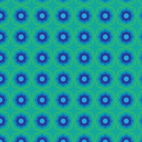 tiling abstract in green and blue by rysunki_malunki