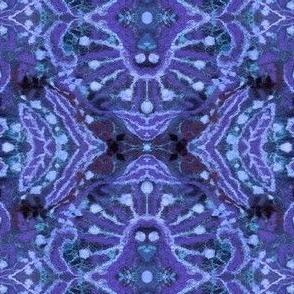 Wool Arabesque Pattern Blue Purple Julia Khoroshikh 2020 3