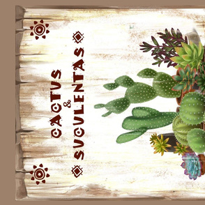 Cactus Nursery tea towel