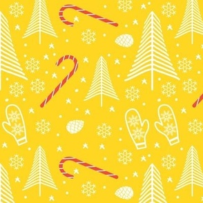 Modern Minimal Christmas in Bold Color Yellow