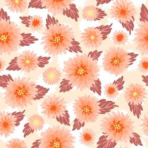 Cute floral pattern - orange