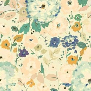Sweet Vines - faded floral
