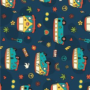 Hippie Trip - Tea Towel