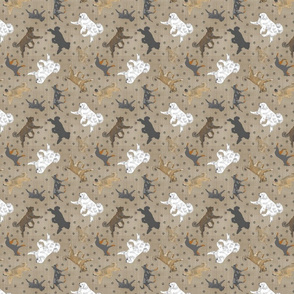 Tiny Trotting cropped Shepherding dog breeds of France - faux linen