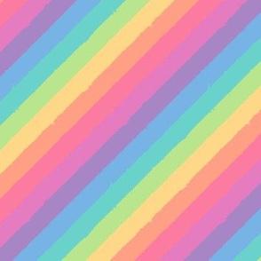 distressed pastel rainbow tipsy tiny