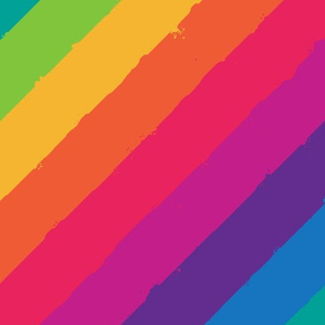 distressed rainbow tipsy