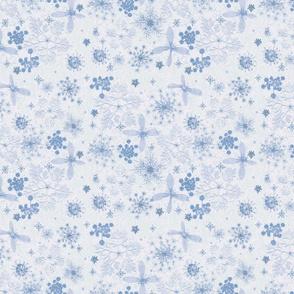 Watercolor n  Snowflakes