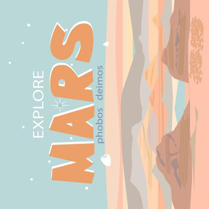 Mars Travel Tea Towel