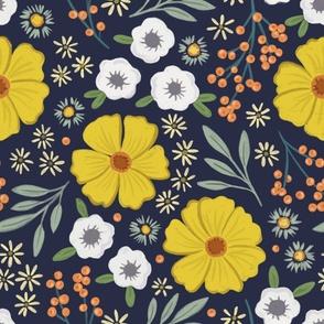 Solid Royal Blue Grunge