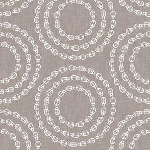 Bug Circles - Warm Grey / White
