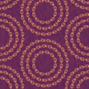 Bug Circles - Burgundy / Orange