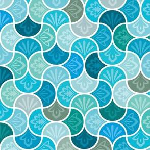 Moroccan Tiles - Azure Arabesque