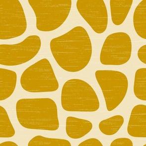 Giraffe Stones - Deep Mustard (larger)