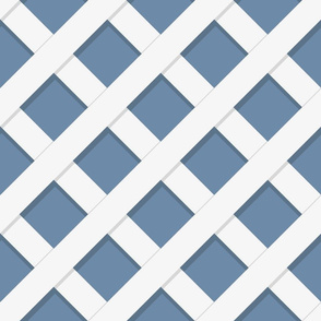 Trellaige White on Custom Blue