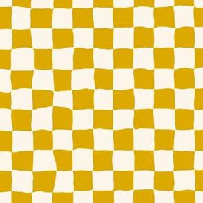 Roller Rink Checkerboard - Mustard