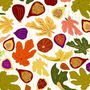 Autumn Fig Dance, Medium scale, multi-color, fruit & leaves