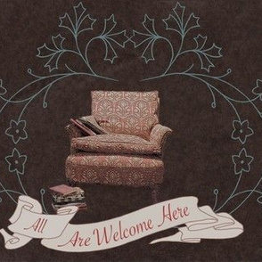 Welcoming Chair With Books