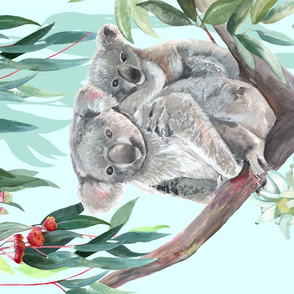 For the Love of Koalas tea towel