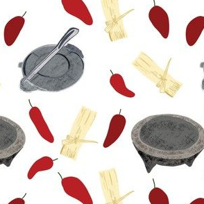 tamales chiles molcajete