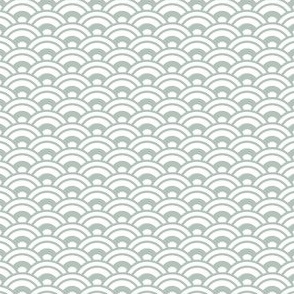 Japanese Nested Scales / Waves - Sage Green