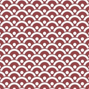Japanese Filled Scales / Waves - Wine Red