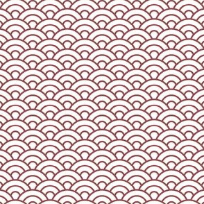 Japanese Scales / Waves -  Wine Red