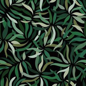 Sage Palms on Dark Background / Small