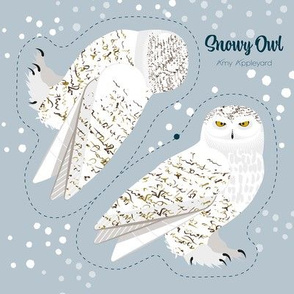 Snowy Owl cut and sew-sample size