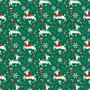 Winter Reindeer (Green & Small)