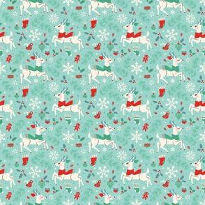 Winter Reindeer (Teal & Small)