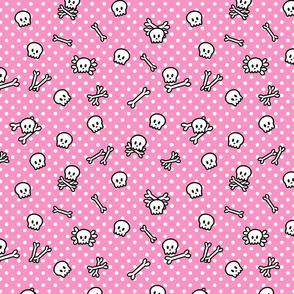 Rockabilly Pink Skulls