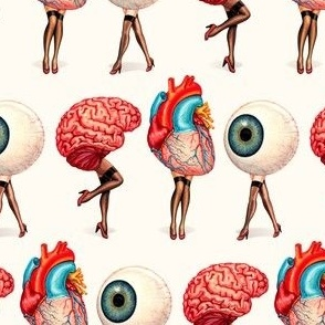 Brain Heart Eyeball Pin-Ups