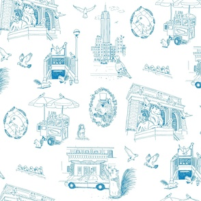 NYC Toile Blue